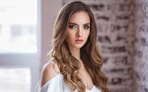 Picture portrait, makeup, brown-eyed, Victoria Lukina, Alexander Vinogradov