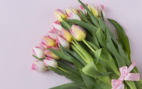 Picture flowers, bouquet, tulips, pink, fresh, pink, flowers, beautiful, romantic, tulips, spring