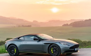 Picture sunset, Aston Martin, side view, 2018, DB11, AMR, Signature Edition