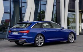 Picture glass, blue, Audi, 2018, universal, A6 Avant