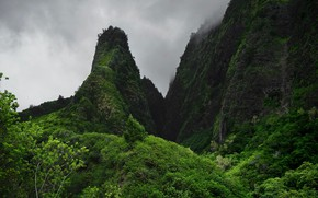 Picture mountains, Hawaii, the valley of IAO