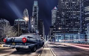 Picture machine, night, the city