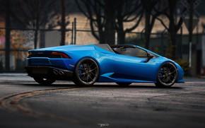 Picture Auto, Blue, Lamborghini, Machine, Spyder, Rendering, Huracan, LP610-4, Lamborghini Huracan, by Mikhail Nikolaev, Mikhail Nikolaev, …