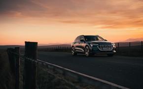Picture Audi, the fence, E-Tron, 2019, UK version