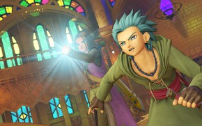 Picture temple, guy, Dragon Quest XI