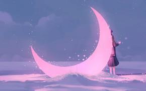 Picture Winter, Girl, Figure, Art, Art, Fiction, Illustration, A month, Storytelling, by MORNCOLOUR, MORNCOLOUR