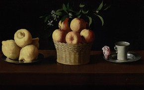 Picture Francisco de Zurbaran, 1633, Still life with fruit and a Cup