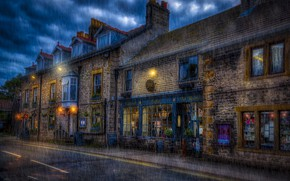 Picture the city, rain, street