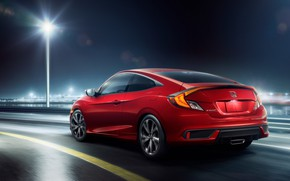 Picture Honda, rear view, Coupe, Sport, Civic, 2019