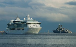 Picture ship, liner, military, cruise