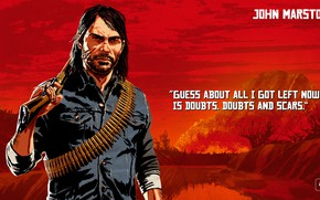 Picture art, John Marston, Red Dead Redemption 2, Red Dead