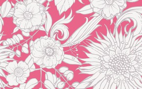 Picture flowers, background, texture, Flower, pattern, sunflower, Seamless