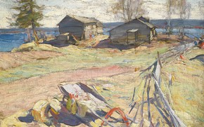 Picture out of the city, Abram Efimovich Arkhipov, VILLAGE IN THE NORTH