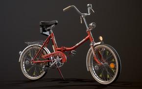 Picture USSR, Складной велосипед, Велосипед Кама