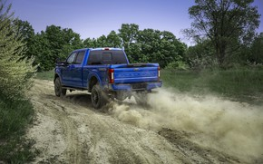Picture blue, Ford, dust, pickup, Super Duty, F-250, Tremor, 2020, Off-Road Package, F-series