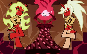 Picture background, the demon, art, Panty & Stocking with Garterbelt