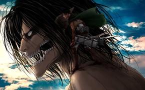 Picture Attack Of The Titans, Shingeki No Kyojin, Eren Yeager, Levi Ackerman