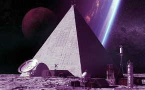 Picture Stars, Station, Space, Style, Planet, Pyramid, Fantasy, Planets, Art, Graphics, Stars, Space, Art, Station, Style, …