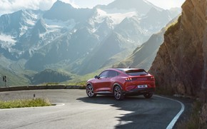 Picture mountains, Mustang, Ford, crossover, EU-Spec, 2020, electrocreaser, Mach-E