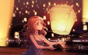 Picture Girl, Night, Lanterns