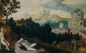 Picture oil, picture, mythology, The Toilet Of Bathsheba, Jan van Scorel, Jan van Scorel, 1540