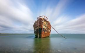 Picture sea, shore, ship
