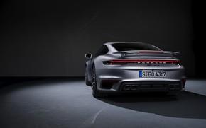 Picture 911, Porsche, rear view, Turbo S, 2020, 992