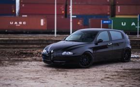 Picture Alfa Romeo, Black, 147