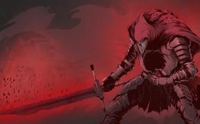 Picture sword, warrior, undead