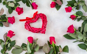 Picture roses, red, heart, Olena Rudo