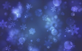 Picture snowflakes, blue, background, background
