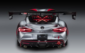 Picture grey, background, coupe, Toyota, rear view, 2020, GR Supra Track Concept