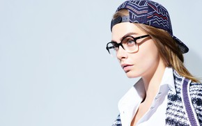 Picture pose, model, actress, glasses, model, hair, pose, actress, Cara Delevingne, Cara Delevingne