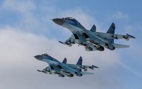 Picture Fighter, Ukraine, Su-27, Su-27UB, Ukrainian air force, R-73, R-27