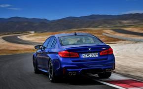 Picture track, BMW, sedan, rear view, BMW M5, 2017, M5, F90