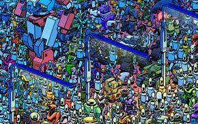 Picture Future, Robot, Robots, Mechanics, Art, Robot, Robots, A lot, Fiction, Future, March, Move, The course, …
