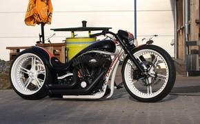 Picture Harley-Davidson, Custom, Motorbike, Thunderbike