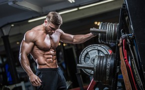 Picture pose, muscle, muscle, press, dumbbells, gym, gym, bodybuilder, abs, dumbbells, bodybuilder