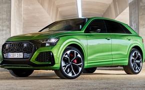 Picture car, machine, Audi, green, rooms, wheel, crossover, RS Q8, Audi RS Q8, green machine, Q8
