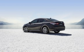 Picture Toyota, sedan, side view, Hybrid, Camry, 2019