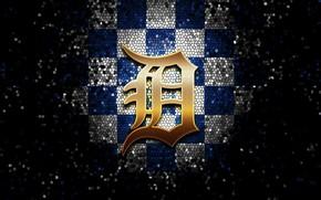Picture wallpaper, sport, logo, baseball, glitter, checkered, MLB, Detroit Tigers