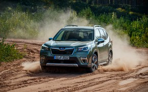 Picture sand, dust, Subaru, crossover, Forester, 2019