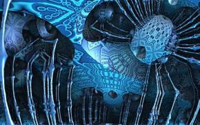 Picture blue, blue, pattern, color