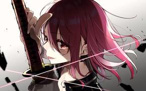Picture look, girl, sword