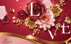 Picture flowers, background, holiday, Valentines Day