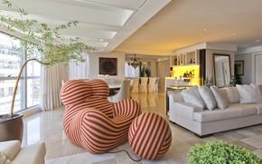 Picture interior, chair, bar, sofa, living room, dining room, Fernanda Borio house