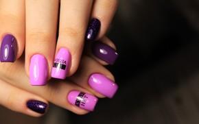 Picture colors, nails, shapes, sculpted