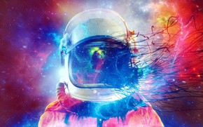 Picture Color, Abstraction, Astronaut
