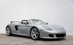 Picture Supercar, Porsche Carrera GT, The front, German Car
