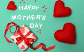 Picture gift, hearts, Happy, Mother's Day